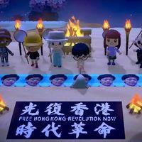 Hong Kong ya no puede salir a la calle a protestar. Así que lo está haciendo en Animal Crossing