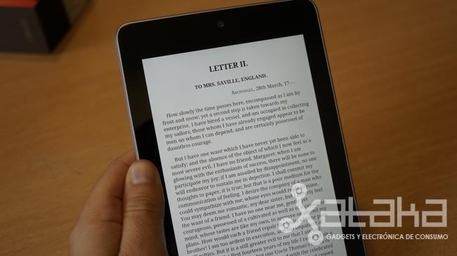 Nexus 7 en modo lectura