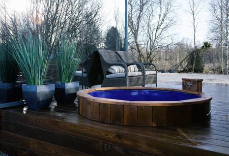 Prefab Cabin Deck Hot Tub 220617 114 08