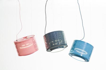 Recicladecoración: lámparas con tambores de lavadora