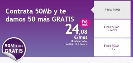 ONO ofrece el doble de velocidad gratis a los nuevos clientes de la conexión de 50 Mbps