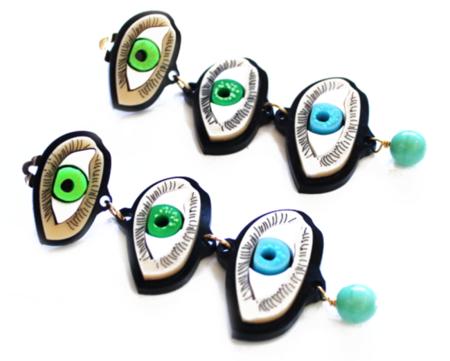 pendientes de ojos de Patricia Nicolas