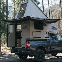 Scout Olympic, una 'caravana modular' que convierte una pick-up en una casa sobre ruedas para seis personas