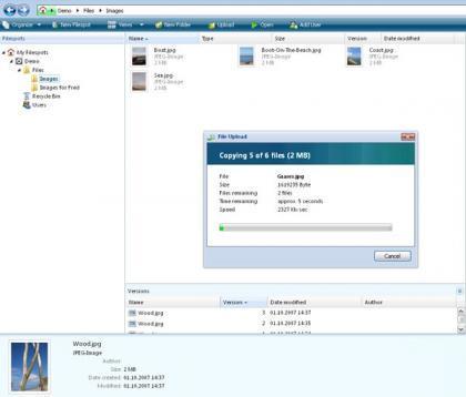 Filespots, servicio de almacenamiento de archivos con entorno similar a Windows Vista