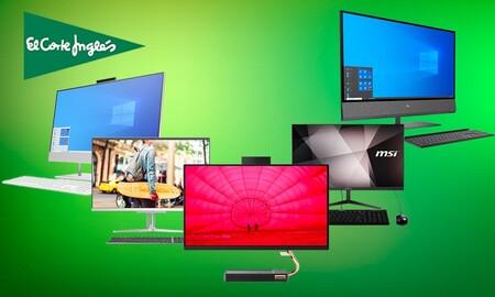Ahorra entre un 13 y un 6% con estos todo en uno de HP, MSI, Medion y Lenovo en El Corte Inglés