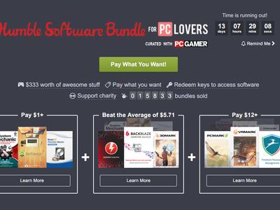 Humble Bundle PC Lovers: paga lo que quieras por nueve paquetes de software valorados en más de 300 dólares