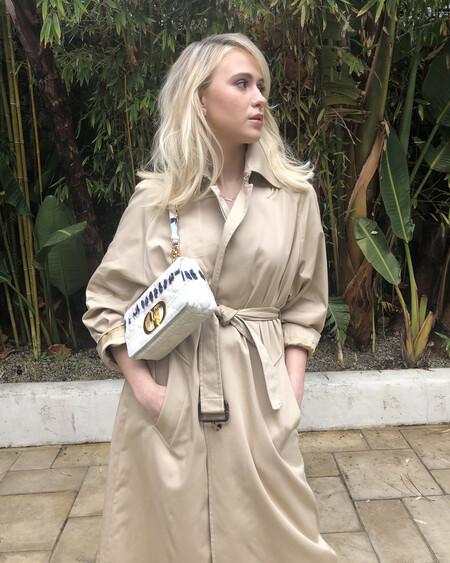 Stars In Dior Caro Bag Maria Bakalova