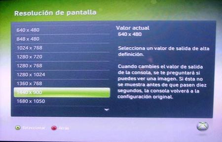 XBox 360 - Resoluciones de PC