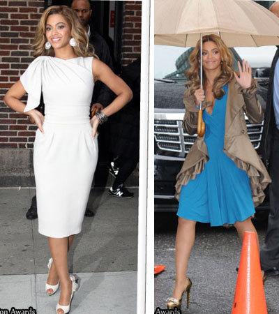 El look de Beyoncé en el Show de David Letterman