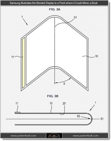 Patente de Samsung que muestra este tipo de pantalla
