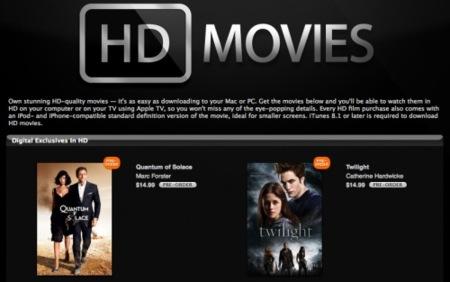 Apple lanza a la venta películas en HD en su iTunes Store USA