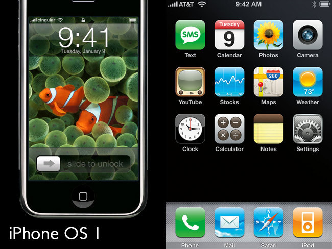 iPhone original con iPhone OS