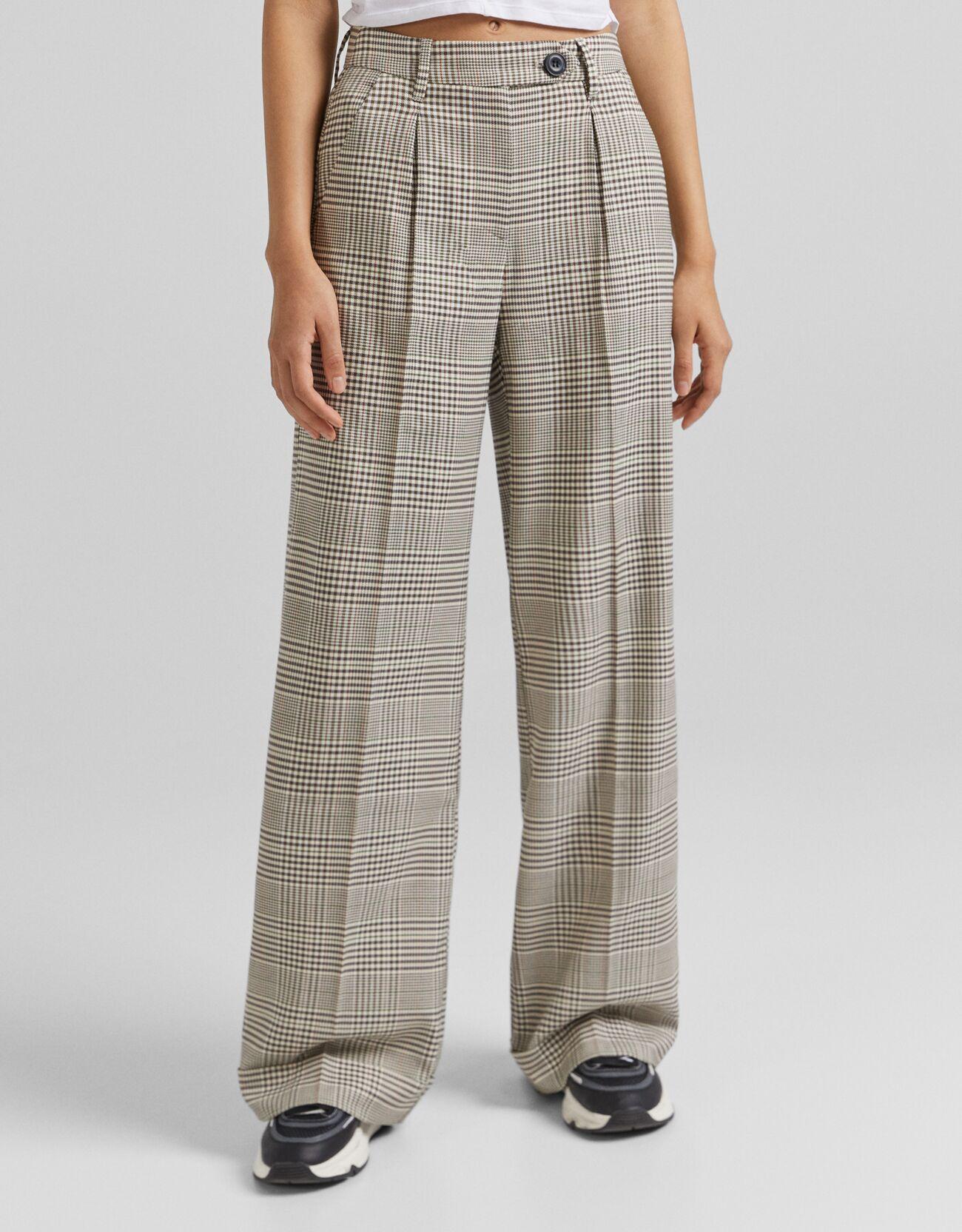 Pantalón wide leg cintura alta