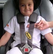 Accesorio para sujetar las tiras del cinturón de seguridad
