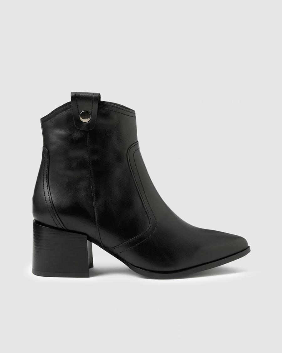 Botines de mujer Zendra Basic de napa en color negro