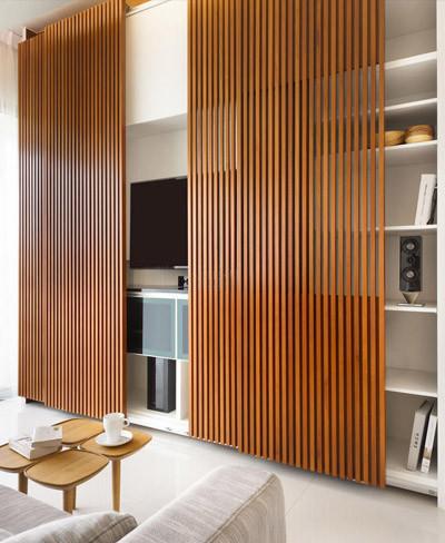 Puertas de madera para ocultar la tv
