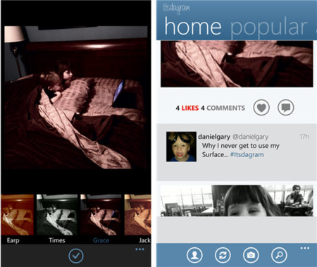Instagram está eliminando imágenes que llegan desde Instance en Windows Phone