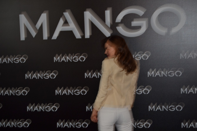 Foto de Miranda Kerr para Mango, rueda de prensa (11/16)