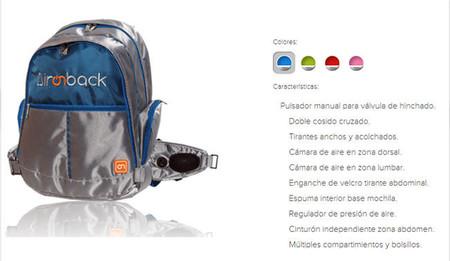 Aironback: la mochila que se adapta a la espalda de escolares y evita fatigas musculares