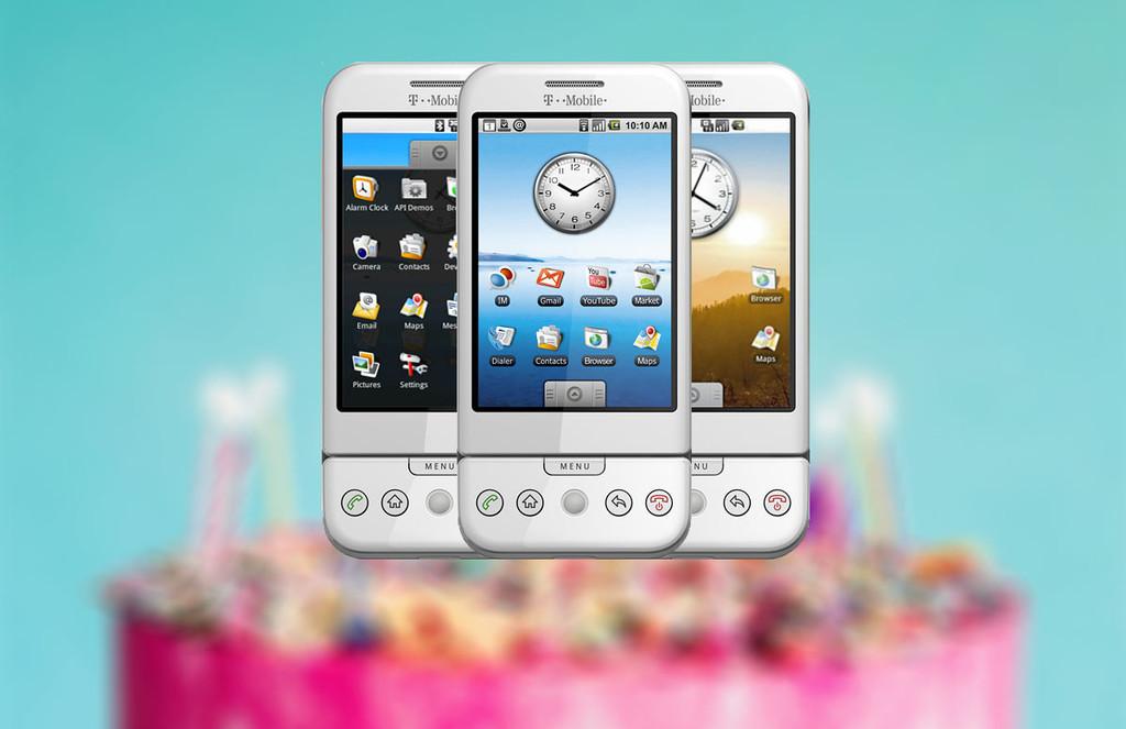 Se consuman 10 años de Android: imágenes, vídeos y curiosidades de la primera versión del aparato ejecutivo de Google®