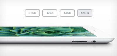 El iPad de 128GB, un indicio de la nueva estrategia de Apple
