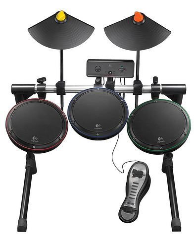Logitech Wireless Drum Controller, un extra de calidad para 'Guitar Hero IV'