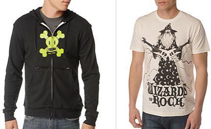 paul frank sudadera calavera más camiseta wizards choice