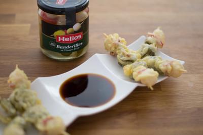 Receta de aperitivo: banderillas en tempura