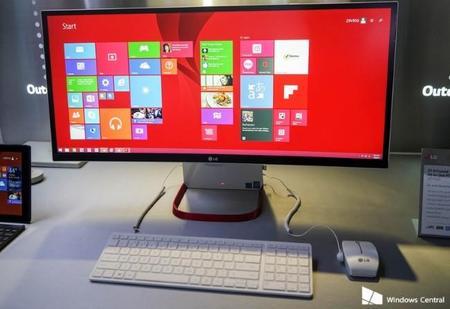 LG anuncia un PC todo-en-uno con pantalla curva extra larga