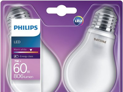 Pack de 2 bombillas LED Philips por 9,99 euros