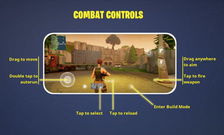 Controles de Fortnite en móvil