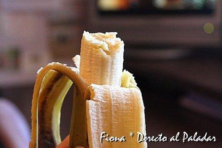 El plátanos tras una semana en el frigorífico