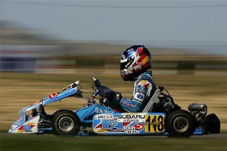 Primer título de Carlos Sainz Jr en el karting