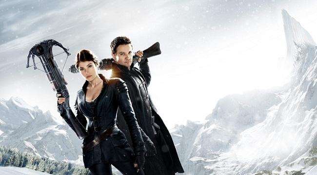 Imagen con un cartel de 'Hansel y Gretel: Cazadores de brujas'