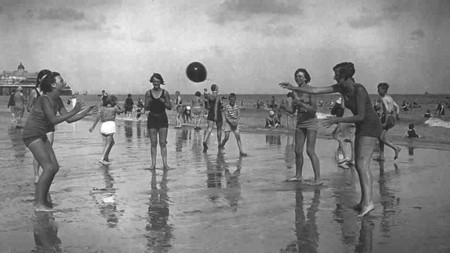 Ball On The Beach At Eastbourne England 1939