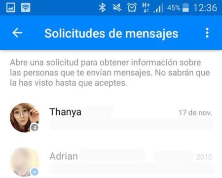 Facebook Messenger tiene una bandeja oculta de mensajes que seguro no has leído