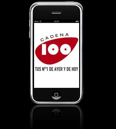 Aplicación de Cadena 100 para iPhone y Touch. En primicia para Applesfera.