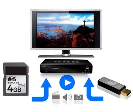 Energy T5450 nos deja grabar en tarjetas de memoria y discos externos
