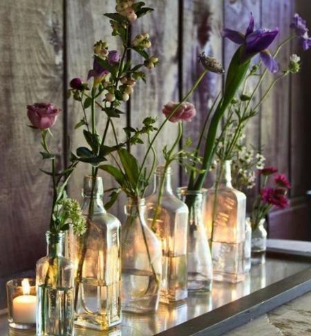 Botellas para flores