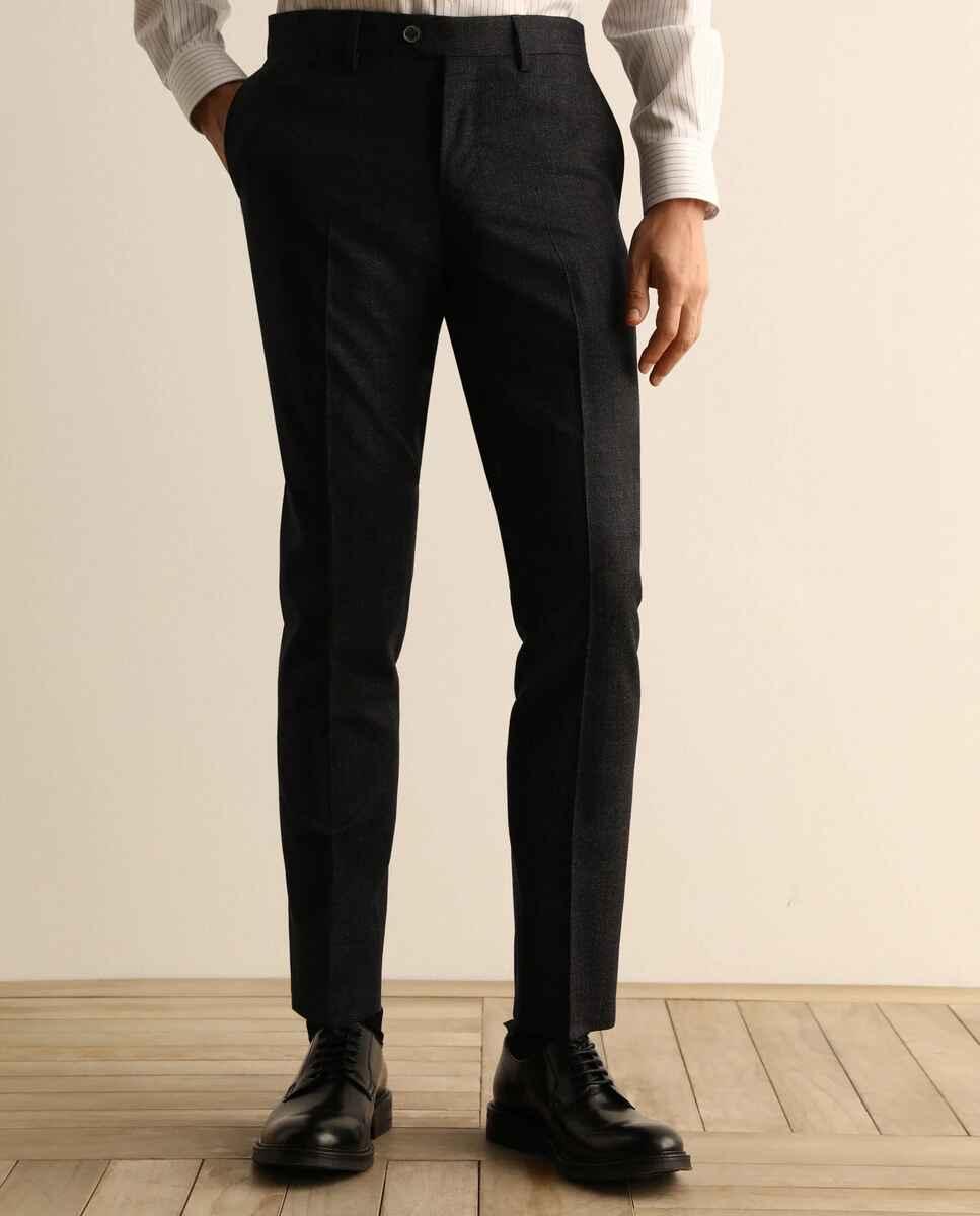 Pantalón de vestir de la colección Black de hombre custom azul