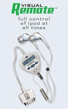 Visual Remote for iPod, mando a distancia y auriculares