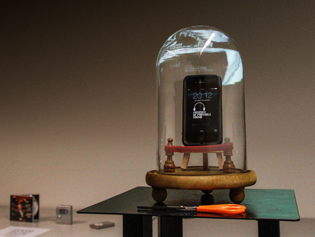 Este es el singular Museo del Sonido Portátil, en Londres, y es increíblemente minimalista