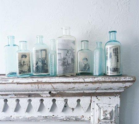 Hazlo tú mismo: utiliza botellas antiguas para enseñar tus fotos antiguas