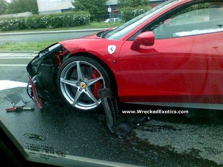 Accidente Ferrari 458 Italia en Polonia