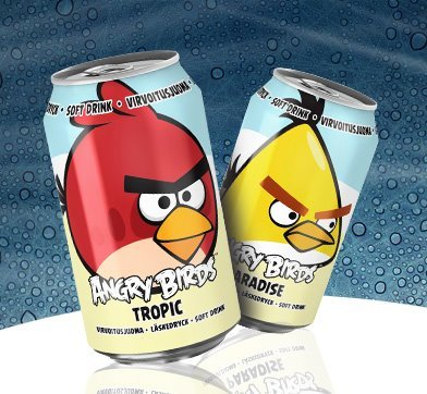 ¿Os apetece beber a los Angry Birds?