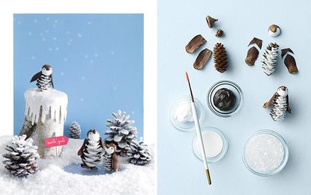 Hazlo tú mismo: una escena navideña con pingüinos