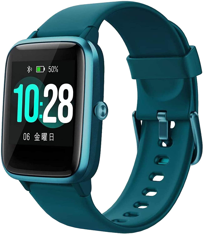 Smartwatch Mujer Reloj Inteligente, Pulsera de Actividad Inteligente Pulsómetro GPS, Monitor de Sueño Impermeable IP68 Caloría Podómetro, Fitness Reloj Deportivo Cronómetro Android iOS Hombre Niños