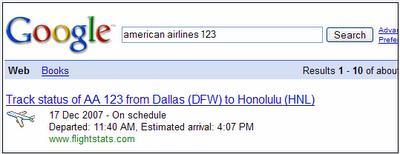 Comprueba el estado de tu vuelo con Google