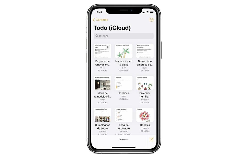 Cómo ver y notificar los cambios en una nota compartida en la app Notas