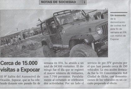 Expocar 2006 y nuestra aparición en el periódico